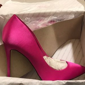 Hot pink pumps from Aldo